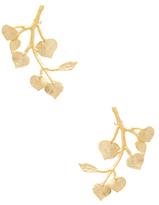 Kenneth Jay Lane Branch & Leaf Statement Earrings