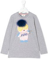 Fendi printed long sleeve shirt