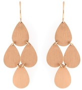 Irene Neuwirth 18K Rose Gold Chandelier French Wire Earrings