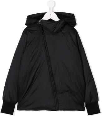 Nununu off-center zip hooded jacket