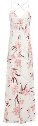 Zimmermann Corsage Open-back Button-detailed Linen Maxi Dress