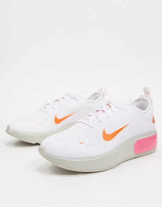 Nike Dia White Pink And Orange Trainers