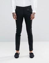 Asos Super Skinny Suit Pant with Polka Dot Trim