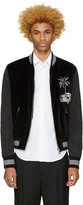 Dolce & Gabbana Black Embroidered Bomber Jacket