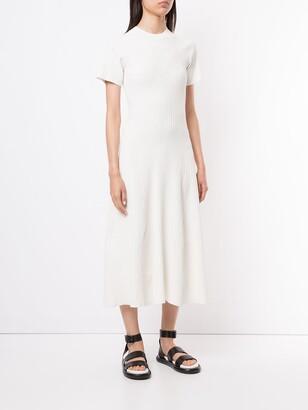Proenza Schouler White Label Cut Out Back Knit Dress