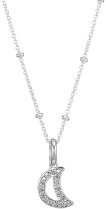 Monica Vinader Alphabet Moon Diamond Charm