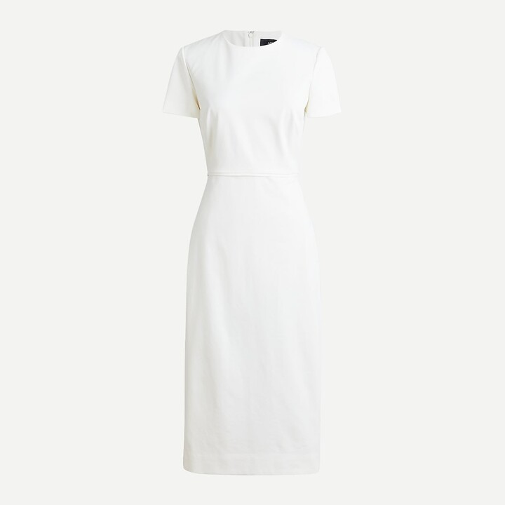 Thumbnail for your product : J.Crew Tall short-sleeve sheath dress in bi-stretch cotton