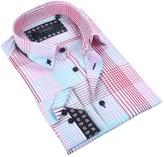 Coogi Plaid Tailor Fit Dress Shirt