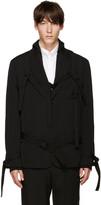 Yohji Yamamoto Black Straps Blazer