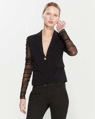 Versace Black Ruched Sleeve Jacket