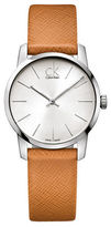 Calvin Klein Stainless Steel and Leather Watch