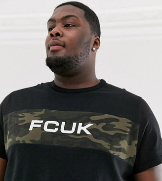 French Connection Plus logo t-shirt-Black