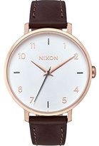 Nixon Women's 'Arrow' Quartz Metal and Leather Automatic Watch, Color:Brown (Model: A10912369-00)