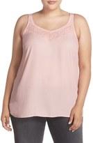 Sejour Lace Trim Camisole (Plus Size)