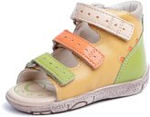 Memo Dino 3MA First Walker Toddler Girl Orthopedic Leather Anti-Slip Sandal, 19 (4T)