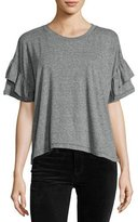 Current/Elliott The Ruffle Roadie Tee, Heather Gray