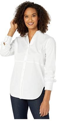 Elliott Lauren White on White Seamed Detail Shirt (White) Women's Clothing