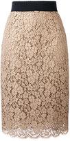 Dolce & Gabbana lace skirt - women - Cotton/Viscose/Polyamide/Spandex/Elastane - 40