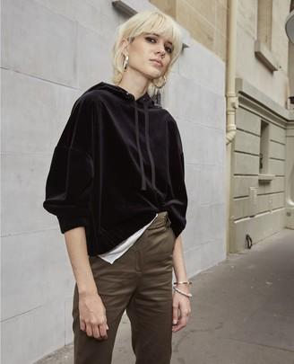 The Kooples Black hoodie with elastic waist