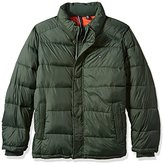 Tommy Hilfiger Men's Big Fly Front Quilted Puffer Jacket