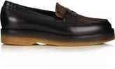 Etro Snakeskin-trimmed jacquard loafers