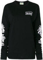 Aries palm tree print sweatshirt