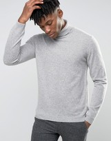 Asos Cashmere Roll Neck Sweater in Gray