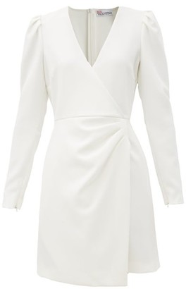 RED Valentino Wrap-front Crepe Dress - White