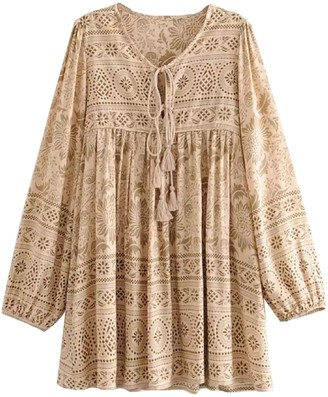 Goodnight Macaroon 'Joasia' Bohemian Print Mini Dress (2 Colors)