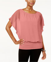 JM Collection Flutter-Sleeve Top, Only at Macy's