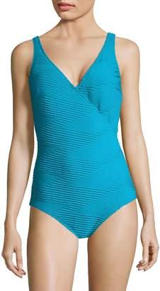 Gottex X By Essence One-Piece Surplice Swimsuit