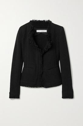 IRO Aley Frayed Boucle Jacket - Black