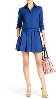 Diane von Furstenberg Montana Shirt Dress In Deep Saphire