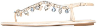 Rene Caovilla 10mm Embellished Leather Thong Sandals