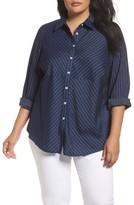 Foxcroft Plus Size Women's Hazel Pinstripe Shirt