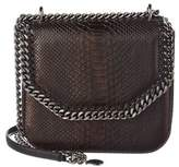 Stella McCartney Falabella Box Python-embossed Shoulder Bag.