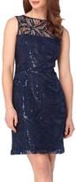 Tahari Petite Women's Sequin Lace Sheath Dress