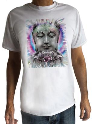 Irony Women Psychedelic Yoga Buddha Chakra Meditation India Hobo Boho-Peace T-Shirt C10-3 (XXXLarge) White
