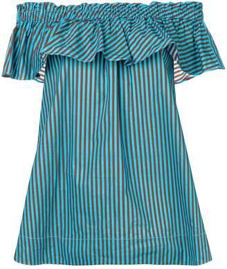 P.A.R.O.S.H. off-shoulder striped blouse