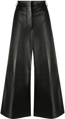 Joseph High-Rise Wide-Leg Trousers