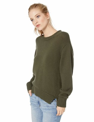 Daily Ritual Amazon Brand Women's 100% Cotton Chunky Long-Sleeve Crew Sweater