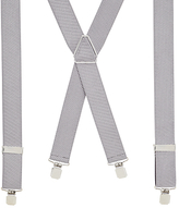 John Lewis Self Stripe Braces, One Size, Platinum