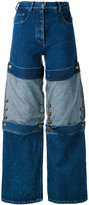 Y/Project Y / Project - panelled wide leg jeans - women - Cotton - 34