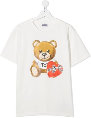 MOSCHINO BAMBINO TEEN Teddy crew neck T-Shirt
