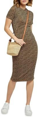 Oxford Hartley Animal Print Dress Brown