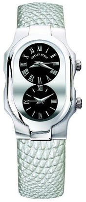 Philip Stein Teslar 1-g-cb-zmwLadies WatchAnalogue QuartzBlack DialLeather Strap Silver