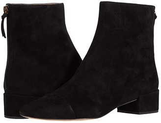 J.Crew Suede Leona Ankle Boot (Black) Women's Shoes