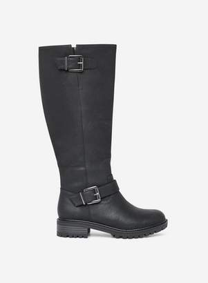 Dorothy Perkins Womens Black 'Kahlua' Long Biker Boots, Black