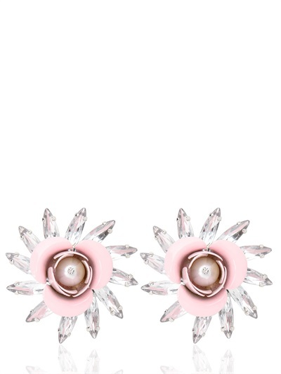 MSGM Resin Flower Earrings