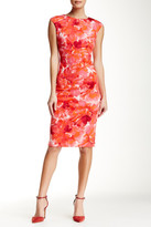 Maggy London Printed Scuba Midi Dress